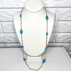 Kate Spade Blue Pave the Way Scatter Necklace
